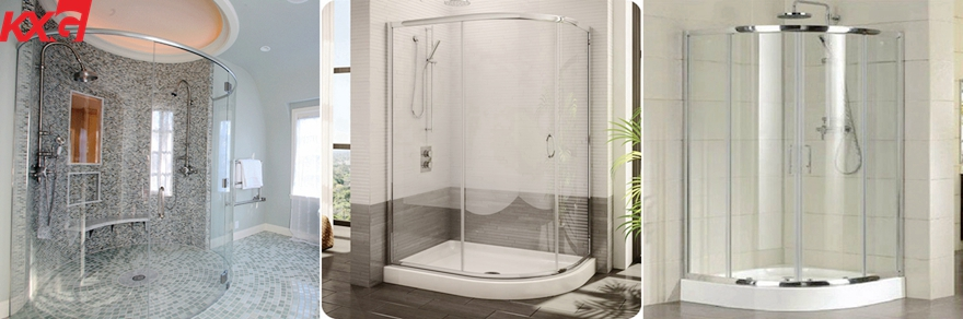 curved safety tempered shower glass