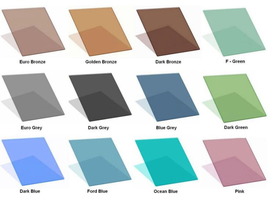 tinted glass color sheet