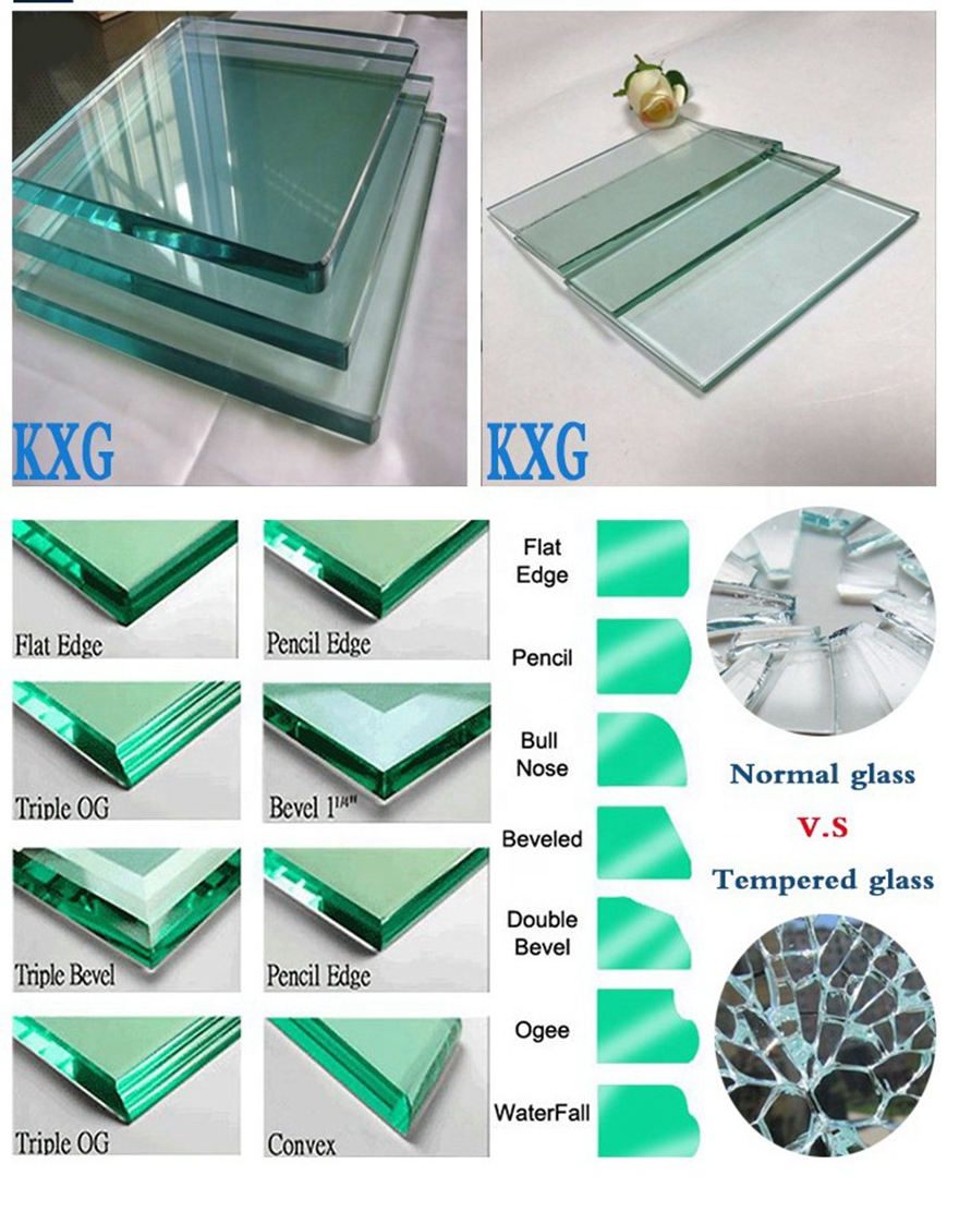 table top glass edge processing