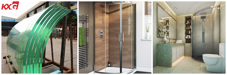 Factory price 12 mm flat and curved tempered glass for shower room door and bathroom with enclosure 01