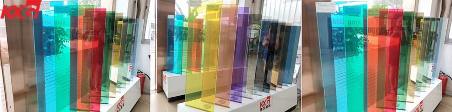 KXG colored film PVB laminated glass