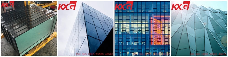 Low iron toughened laminated low e energy saving insulated glass facades
