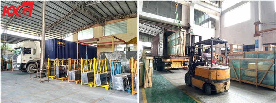KXG exports frosted tempered glass to Malaysia