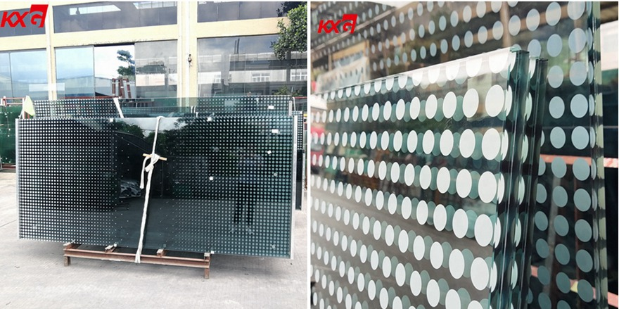 silk screen printing tempered laminated glass