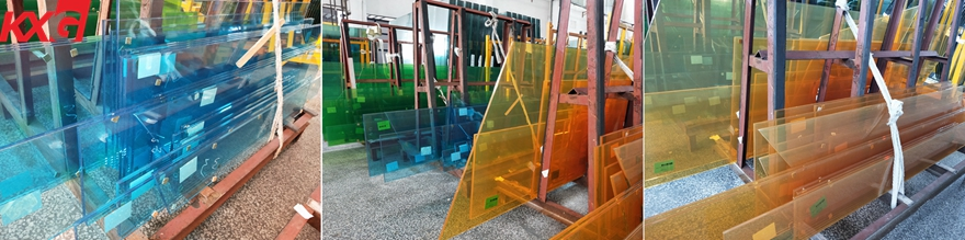 colored film PVB laminated glass