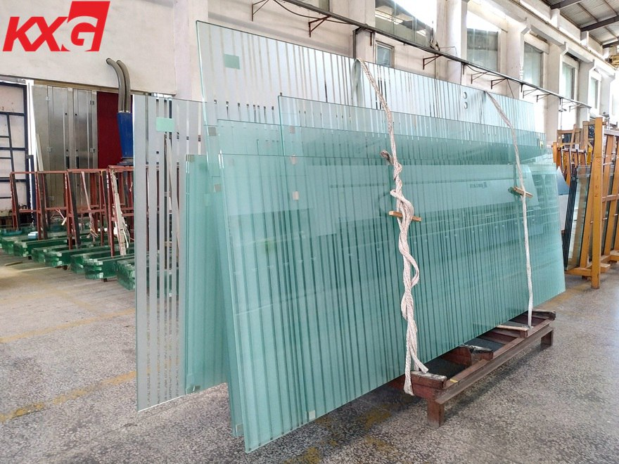 KXG partially frosted tempered glass