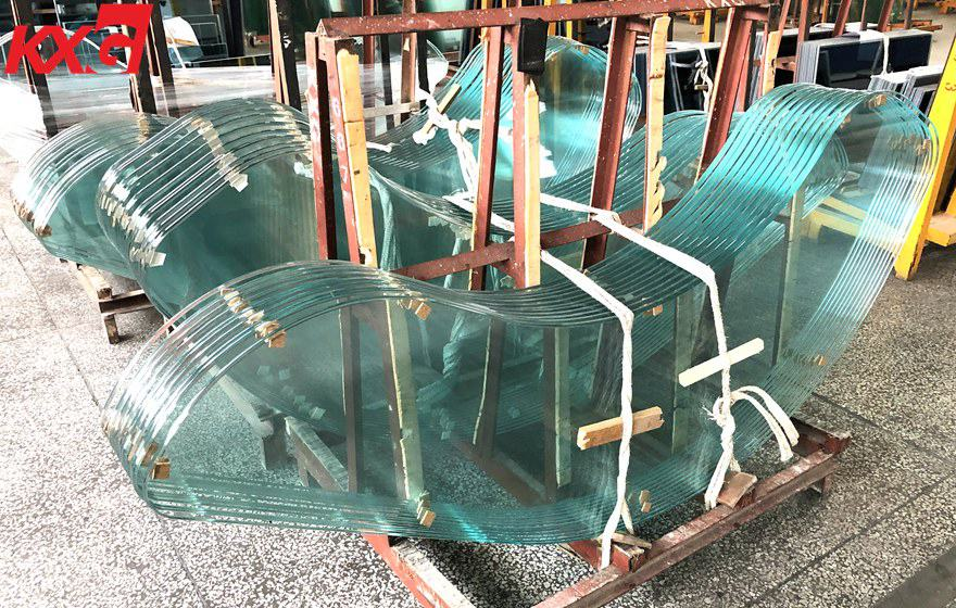 KXG-irregularly shaped round edge tempered glass