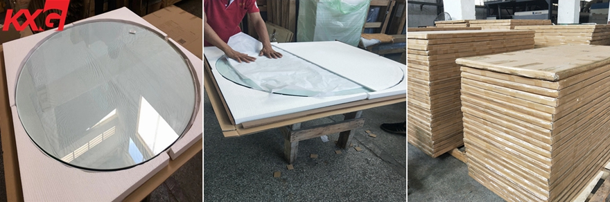 KXG table top glass packing