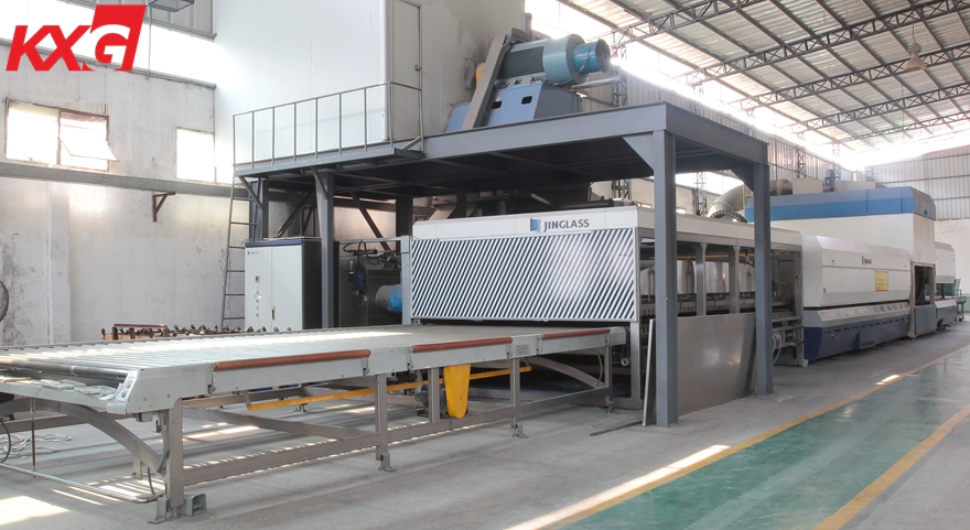 KXG clear tempered glass factory production line