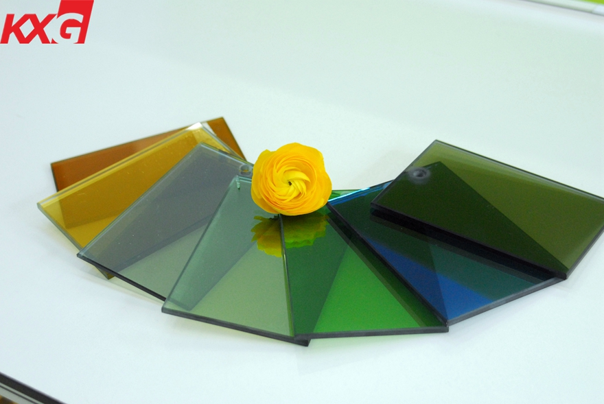 Color Reflective glass