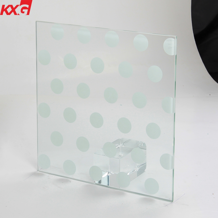 6mm silk screen printed glass for partition wall 2