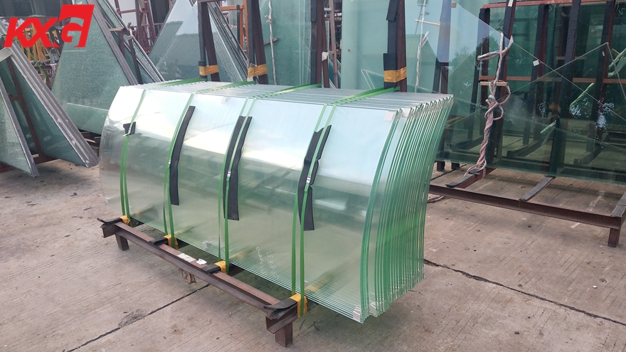 12mm extra clear curved tempered glass