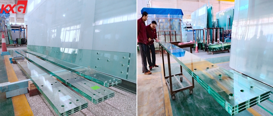 12+12+12 triple tempered SGP laminated glass
