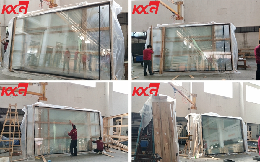 8mm ultra clear toughened double glazing glass packing