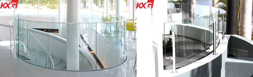 curved tempered glass railing