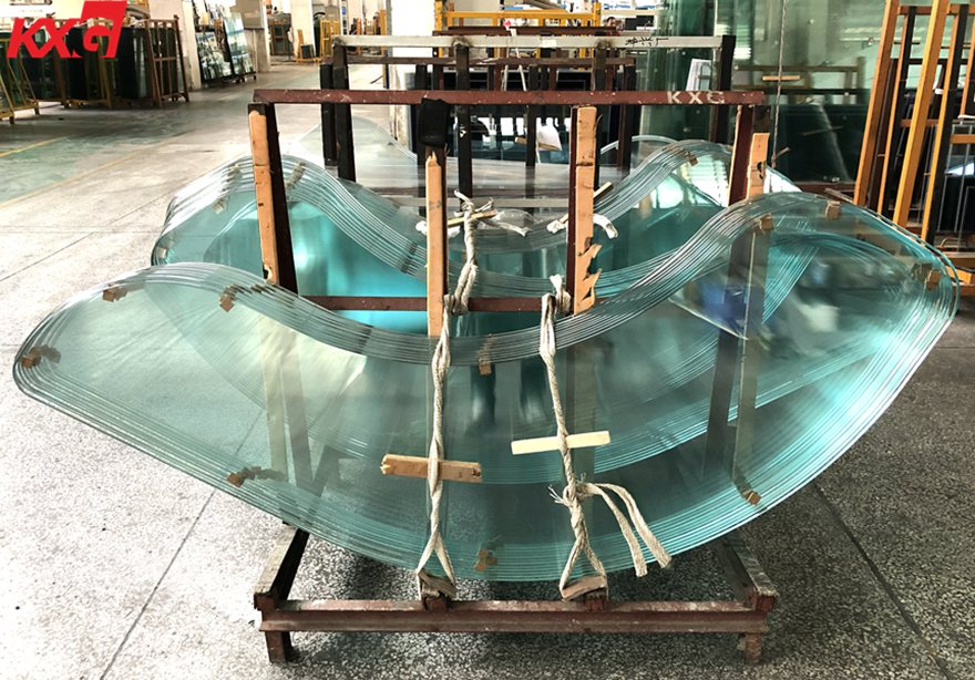 irregularly shaped round edge tempered glass