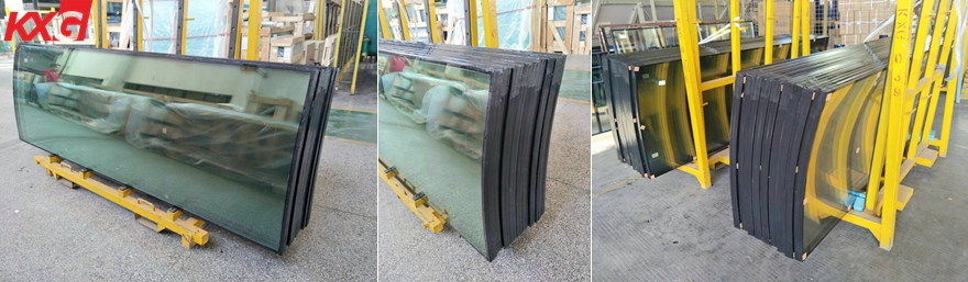 toughened insulated curved glass