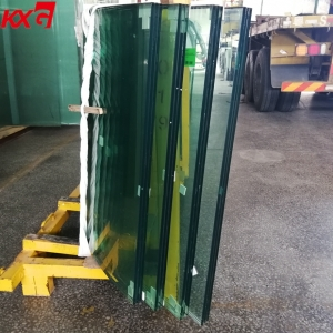 12+12+12mm 40.56mm curved tempered laminated glass, 3 layer SGP laminated glass manufacturer