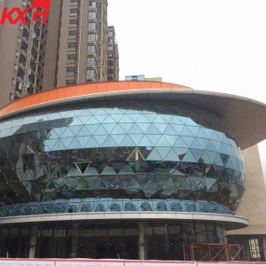 Building glass factory high quality flat and curved structural facade insulated curtain wall glass