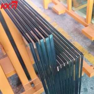 China 10.38mm heat strengthened laminated glass factory, high quality 551 clear PVB heat strengthened laminated glass