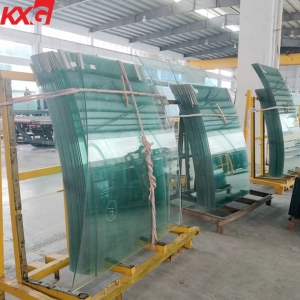 China 21.52mm curved tempered super strong SGP laminated glass price, 10104 bent laminated safety glass factory