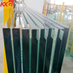 China KXG balustrade glass factory 19mm tempered glass handrail railing