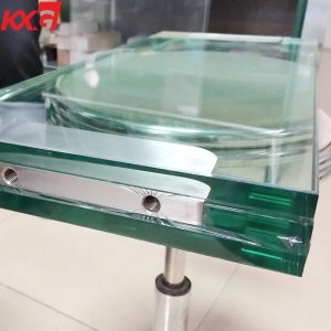 China Kunxing glass factory 15+1.52SGP+15+1.52SGP+15mm clear toughened laminated safety glass