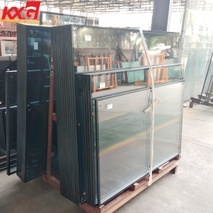 China build glass factory supply 5mm-12A-5mm tempered low e insulated glass, 5mm clear tempered glass+12mm air spacer+5mm low e tempered double glazing glass