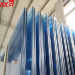 China factory 11.52 mm ford blue tinted laminated glass, safety toughened color laminated glass