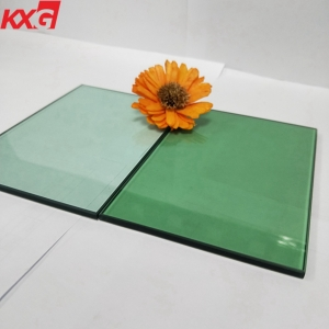 China factory 8mm tinted green color safety decorative tempered glass