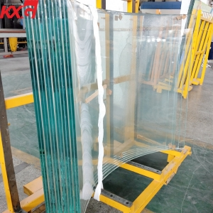 China factory competitive price 21.52mm SGP curved tempered laminated safety glass 10104 VSG