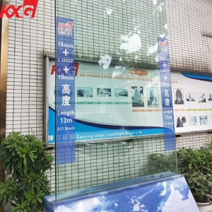 China factory strong safety 19+2.28mm+19mm SGP tempered laminated security glass price