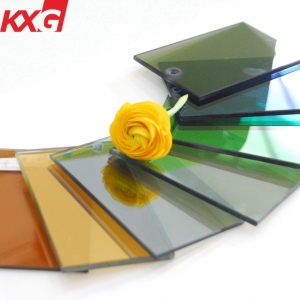 China glass factory best quality best price 6mm hard coating smoke grey heat reflective solar control glass