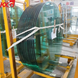 China glass manufacturer wholesale price safety clear round tempered glass