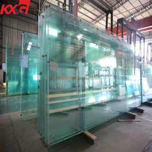 High quality super large jumbo size tempered safety glass, China jumbo size toughened safety glass factory