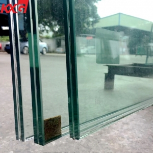 China wholesale price 13.52mm SGP tempered laminated glass,6mm +1.52mm clear SGP+6mm factory safety toughened glass