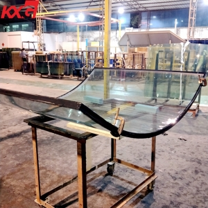 Custom made heat resistant and sound control curved double glazing insulated glass factory