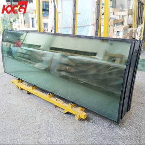 Customized size 8mm-12A-8mm argon spacer tempered insulated curved glass, 8mm+12A+8mm toughened double glazing curved glass factory