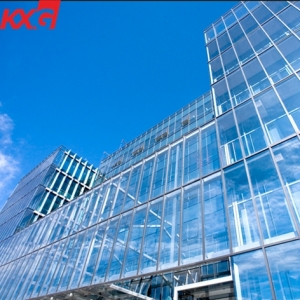 Facade window double glazing units manufacturer energy saving low E coating insulated glass curtain wall