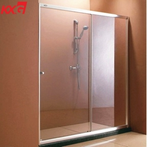 Factory price 12 mm flat and curved tempered glass for shower room door and bathroom with enclosure