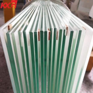Good quality 6.38mm 11.52mm snow white ceramic white porcelain white color film laminated glass factory China