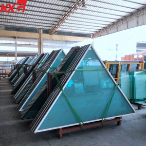Guangdong reflective insulated glass factory, energy saving colorful reflective insulated glass, color double glazing units