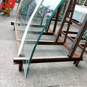 KXG 13.52mm SentryGlas strong safety laminated glass factory price,6mm+1.52mm SGP+6mm curved laminated glass China