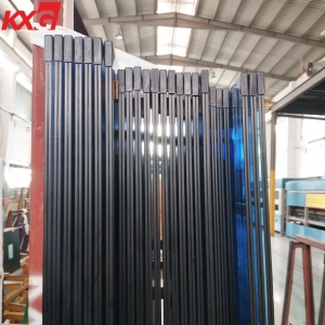 KXG building glass factory supply 6mm blue tinted tempered glass+0.76mm clear PVB+6mm blue colour tempered laminated glass, 662 blue tinted tempered laminated glass