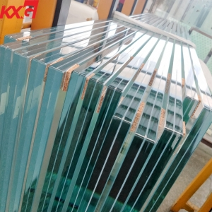 KXG glass factory price 11.52 17.52 21.52 ultra clear SGP laminated glass,super clear safety glass with SGP interlayer