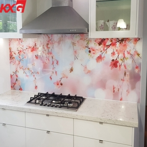 Kitchen color painting tempered glass factory,splash back lacquered safety toughened glass,silkscreen printing glass for kitchen