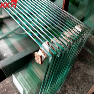 Kunxing 6mm clear tempered glass, door windows safety glass, China safety building glass factory