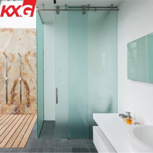 Privacy protection glass factory 10mm tempered frosted glass for shower room bathroom