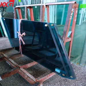 Wholesale price energy saving 6mm dark blue heat reflective coated glass, China building glass factory