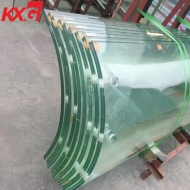 17.52 mm bent laminated tempered glass factory,8+8mm curved laminated safety glass price